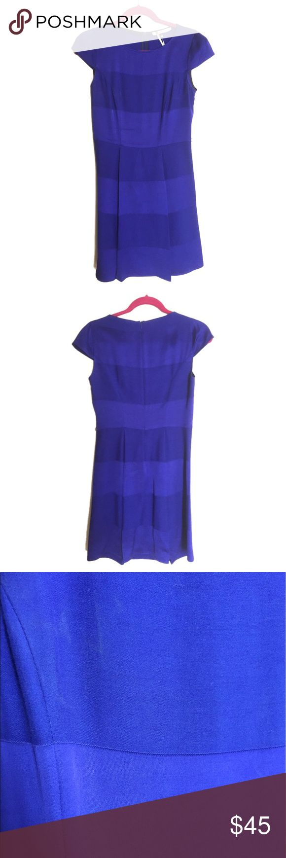 Gorgeous blue semi formal dress Gorgeous blue semi formal dress. Made out of wool, viscose, cotton and polyester. Imported from Spain. Never used but has a few stains from storage shown in picture. Non smoking home. No tears. No holes. No odors. Super classy! 👗 Dresses