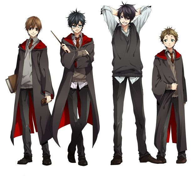 Original Vs Anime Harry Potter Fan Art Harry Potter Anime Harry Potter Drawings