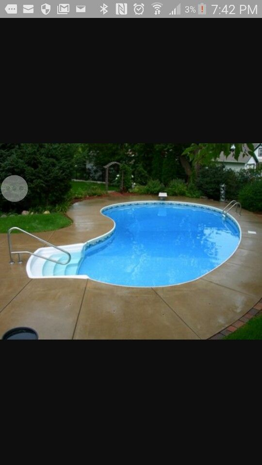 Small kidney shaped pool for our yard like a nola for Kidney shaped pool designs