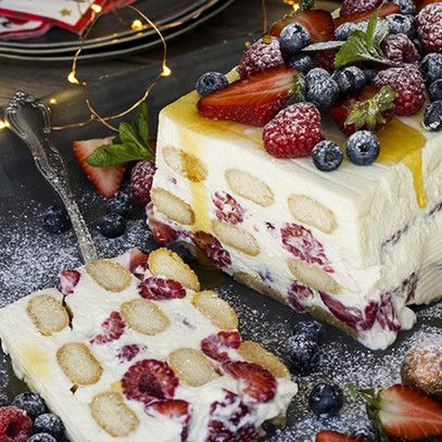 Motm cheesecake trifle with red berries