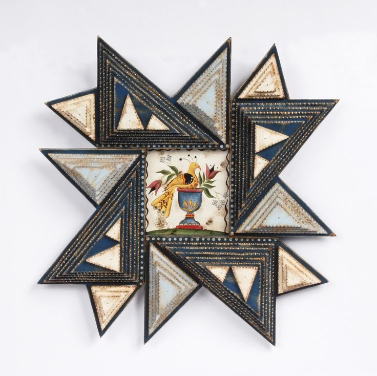 Angie Dow Patriotic Star Frame with Watercolor image 2   Tramp Art ...