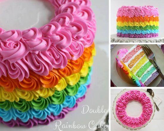 Rainbow Birhday Cake