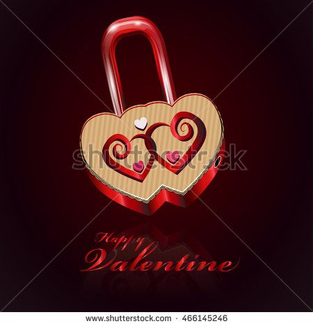 Happy valentine logo in padlock background with box texture made from the heart…