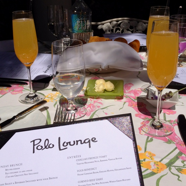 Brunch at the Polo Lounge
