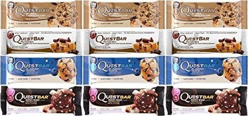 Quest Bar Americas #1 Favorite Protein Bar Variety Pack 12- Bars