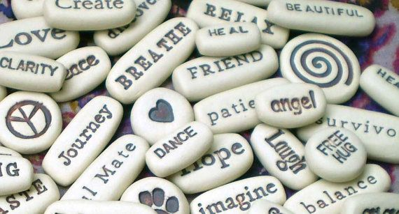200 Message Stones, Wholesale Pocket Words, Motivational Gifts, Inspirational Clay Words, Wedding Favors, Memorial Gifts on Etsy, $200.00