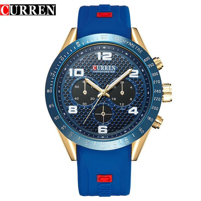 Luxury Genuine Leather Strap Analog Display Date Men's Quartz Watch Casual Watch Men Watches