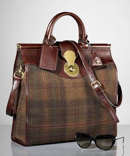 Ralph Lauren Plaid Carlyle Tote