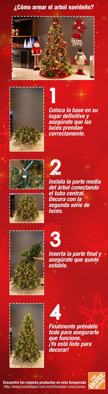 Arma tu pino navideño con luces incluidas siguiendo estos sencillos pasos, listo para decorarlo como más te guste.