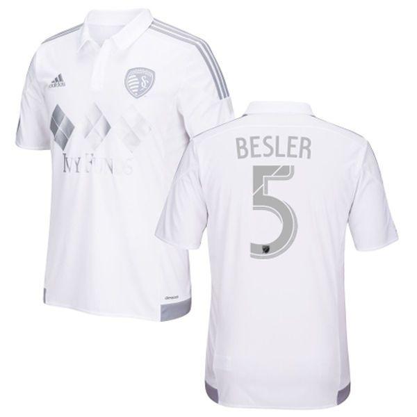 Matt Besler Sporting Kansas City adidas 2016 Third Replica Jersey - White - $91.99