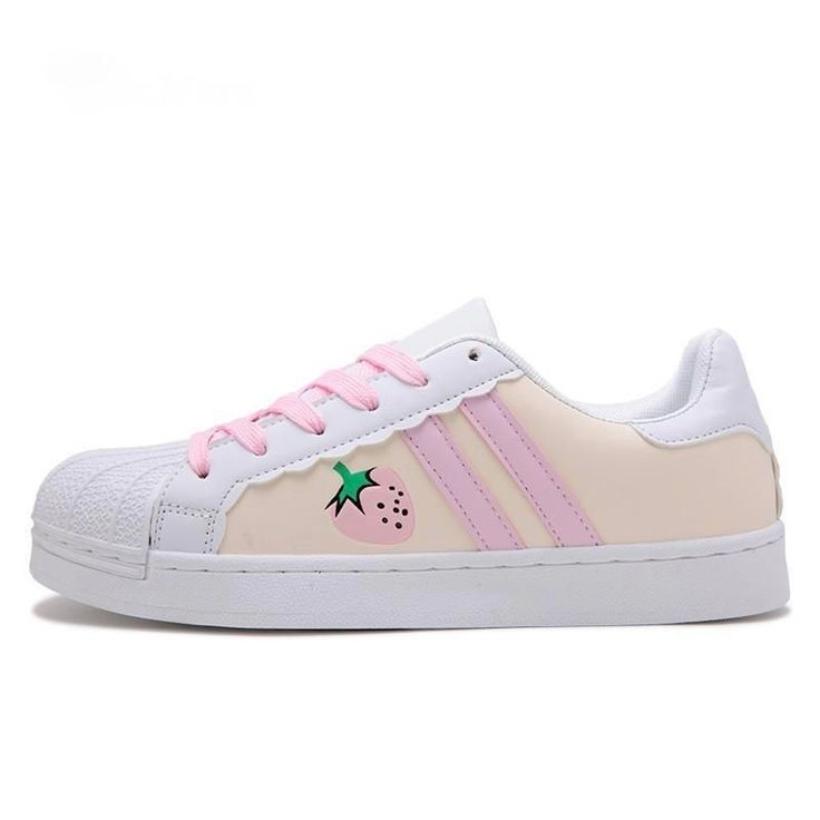 Sweet Strawberry Trainer Running Sneakers with Pastel Fairy Kei Aesthetic …   – Fashion