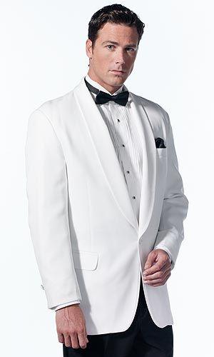 Tuxedo Rentals - Rent Formal Wear - Style 41: White Shawl Classic Dinner Jacket - Al's Formal Wear