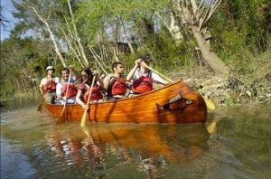 Il Tigre in canoa