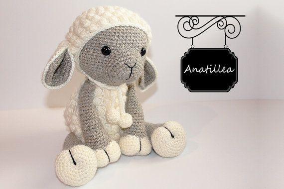 PATRÓN: Ovejas / cordero - Amigurumi - oveja - oveja de Amigurumi - cordero - ganchillo - crochet cordero - punto peluche animales-muñeca-juguetes-babyshower