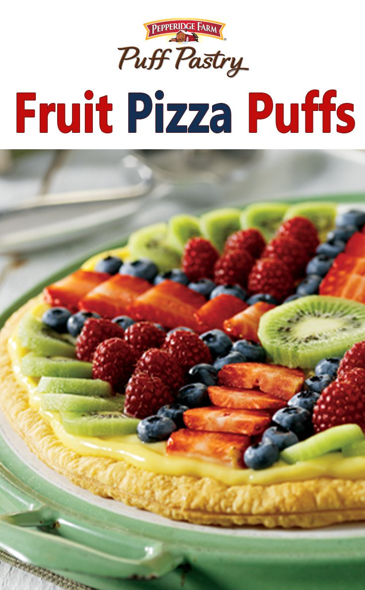 Puff Pastry Fruit Pizza Puffs Recipe. A flaky, golden Puff Pastry ...