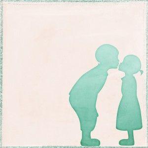 Free digital paper - Kissing