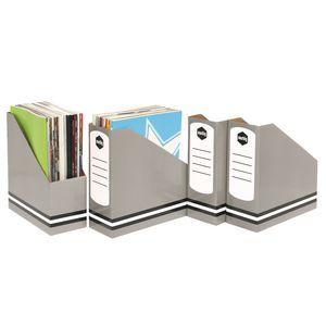 Marbig Standard Magazine Holder Grey 4 Pack