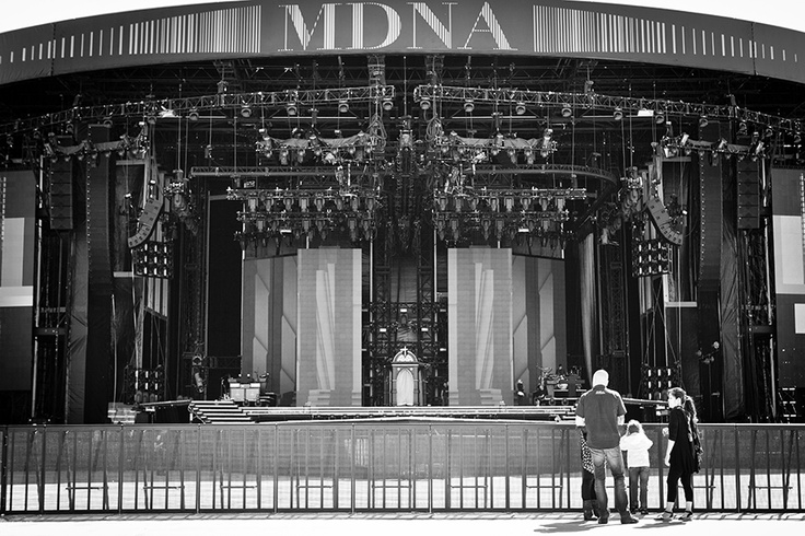 Madonna's MDNA stage @ Olympic Stadium, Helsinki - Finland, (c) Arne de Knegt Photography