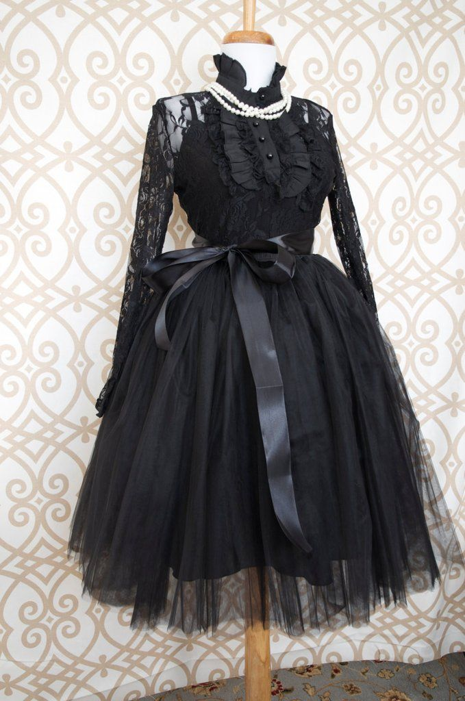 Beautiful tulle skirt in womens sizes. Skirt is made of 6 layers of tulle and is fully lined with an elastic waist. Available in ladies sizes small thru X Large. This is a knee length skirt. This list