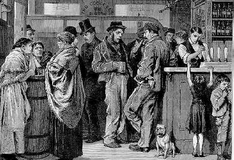 Gin Palace in Victorian times.