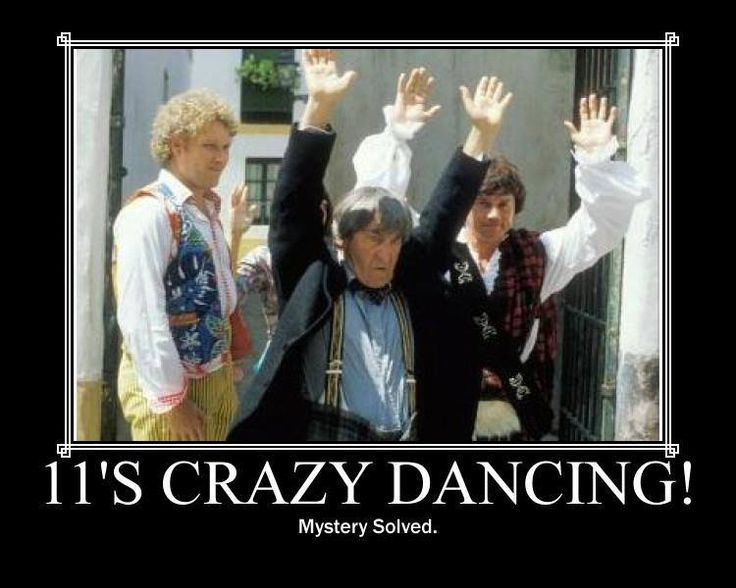 Proof that bad dancing is passed from regeneration to regeneration. < It's not bad - it's cool!