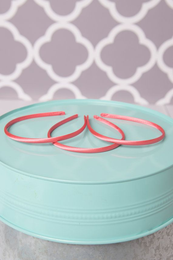 Coral Satin Headband DIY headband kit wholesale headband