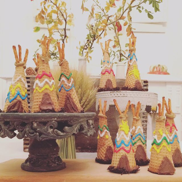 Little Farmstead: Ice Cream Cone Cupcake Teepees and Teepee Art...