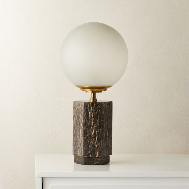 Charade Marble Globe Table Lamp + Reviews | CB2 in 2020 ...
