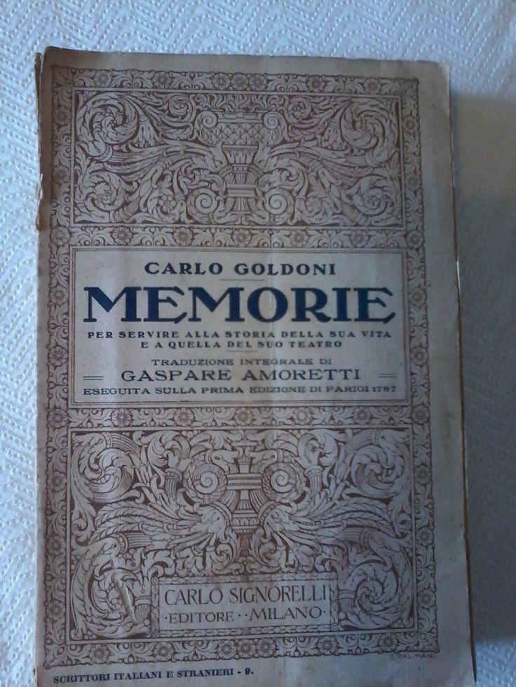 Amazon.it: Memorie - Carlo Goldoni - Carlo Goldoni - Libri