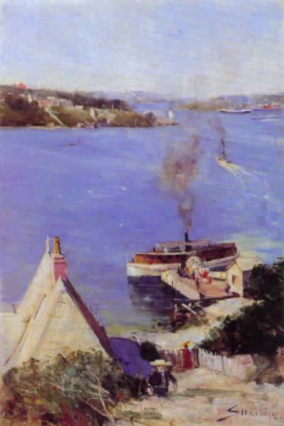 Arthur Streeton: 'McMahon's Point Ferry' (1890) Oil on canvas.