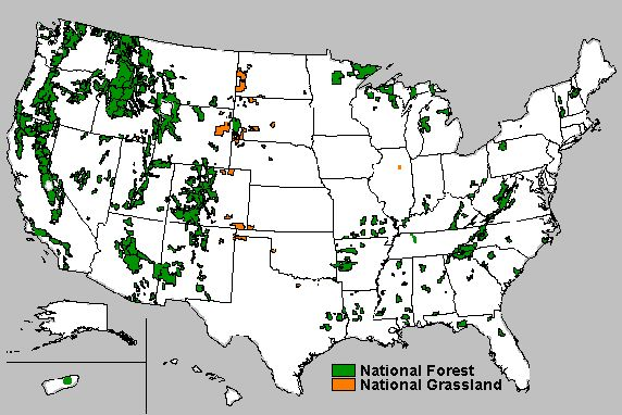 US Forest Service.  National Forest System lands near here.