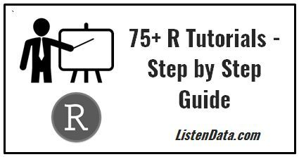 R Tutorial for Beginners and Advanced Users R language is