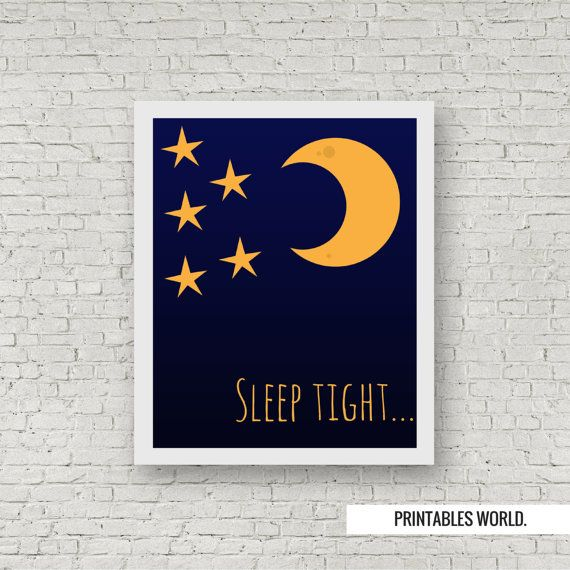 Sleep tight Printable Poster Instant Download by PrintablesWorld