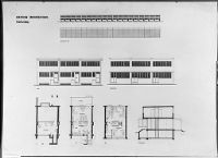 Walter Gropius | Housing Development, Karlsruhe-Dammerstock, 1928-1929: Row House: Plans, Elevations, And Section
