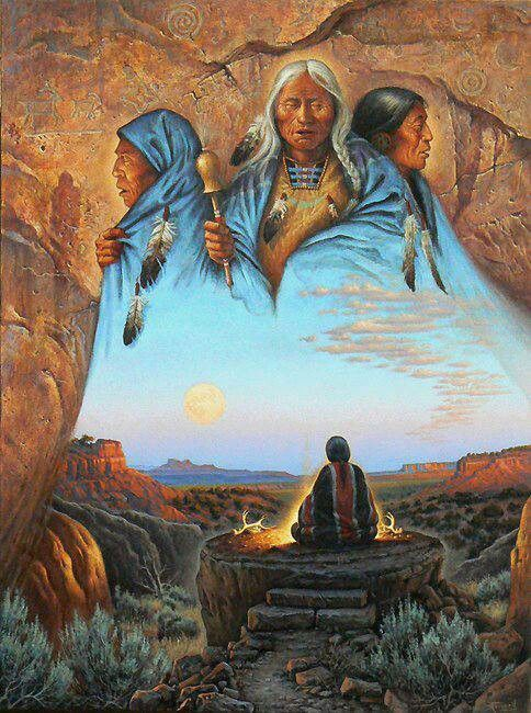 First Nations. Shaman. A call to the ancestors.