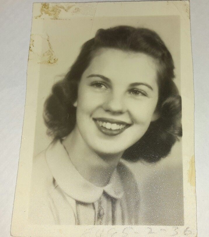 Vintage Old 1940's School Photo Very Pretty Girl Great Smile PATRICIA A. GRUBBS