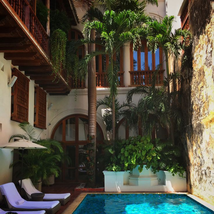 Hotel Casa San Agustin in Cartagena, Colombia is one of the best hotels we have ever stayed at. A gorgeous mix of old Spanish colonial and modern design.