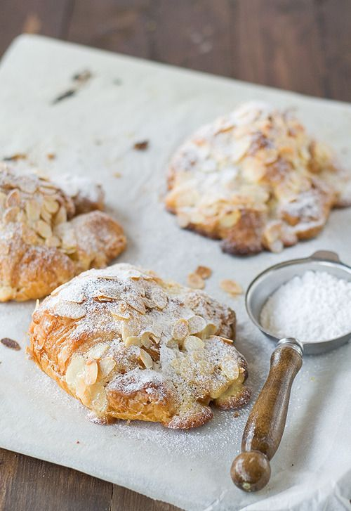 almond croissants. @A L E X I S let's have a pajama day where we make these on a Saturday and watch great movies