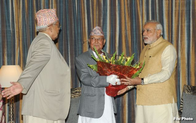 Telephonic conversation between Prime Minister and Prime Minister K.P. Sharma Oli of Nepal