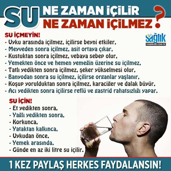 Su ne zaman içilir, ne zaman içilmez? #su #sağlık #beslenme #diyet #sağlıkhaberleri