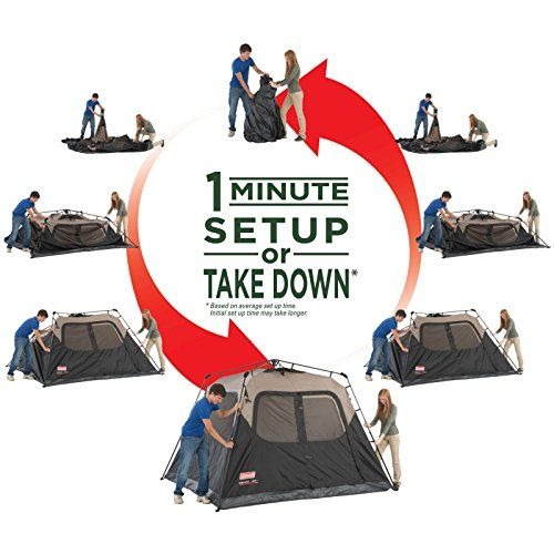 I just saw this and had to have it Coleman Instant Tent 6 Person you can {read more about it here http://bridgerguide.com/coleman-instant-tent-6-person/