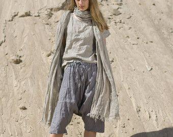 LINNEN / wol Sarouel Harem broeken / Trousers