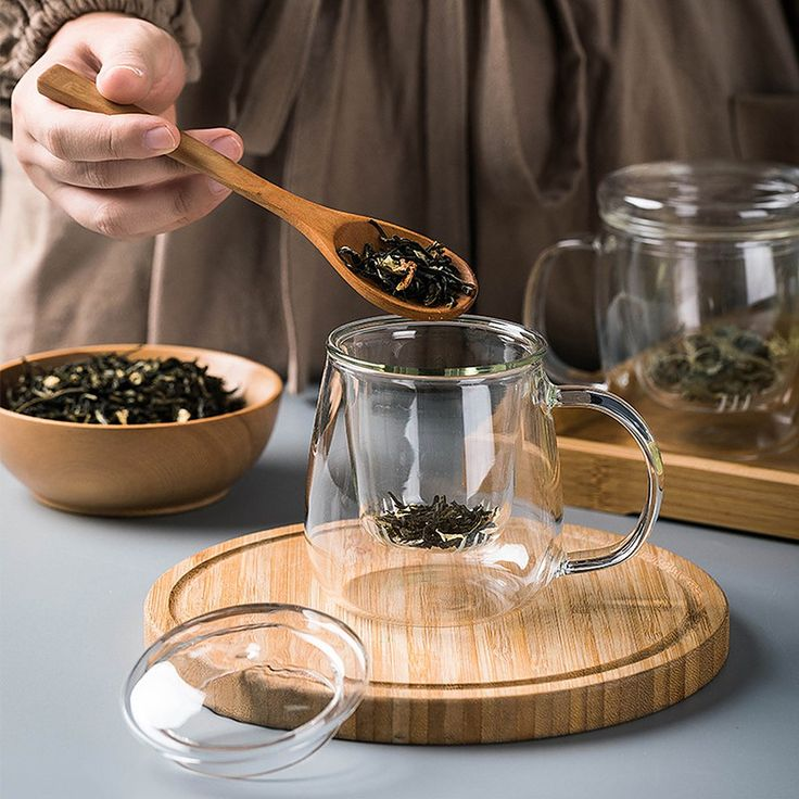 Glass tea cup with strainer green tea cups glass tea