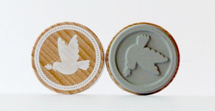 Stempel rund Taube Friedenstaube von frau zwerg auf DaWanda.com