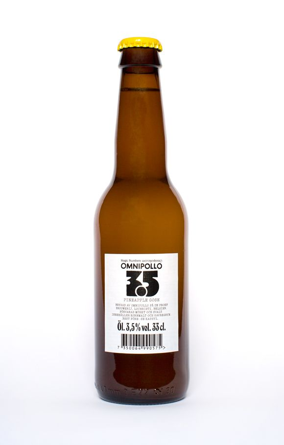 Part of Magic Numbers (a dreamy small-batch series): 3.5 is a german style wheat beer (gose) brewed with rock salt, conditioned on pineapple, and lightly dry-hopped.  Gose, 3.5 % by vol.