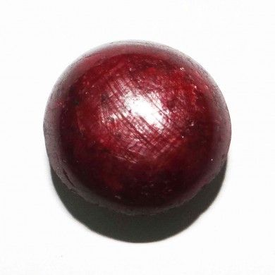 48.95Cts Natural Red Untreated Star Ruby Stone Circle Africa Cabochon Gemstone