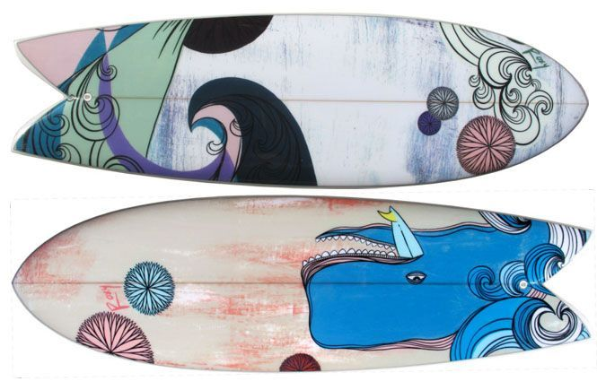 rad surfboard art