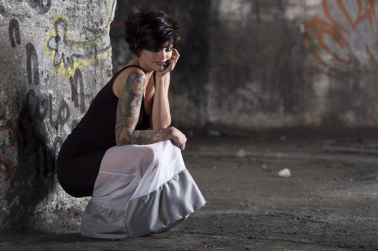 #gabrielladeplano #fashion #collection2013 # longskirt #jersey #moda #madeinitaly #3d fabric