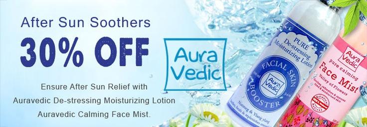 Get 30% off on Auravedic De-stressing Moisturizing Lotion & Calming Face Mist