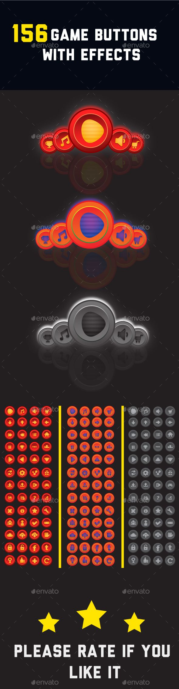 Game Buttons with effects